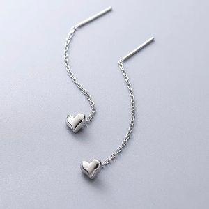 S925 sterling silver heart threader